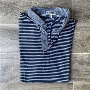 Men's Express Fitted Polo Shirt XL